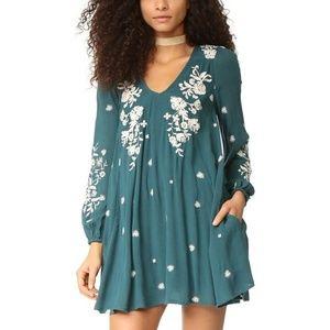Free People Blue Sweet Tennessee Mini Dress